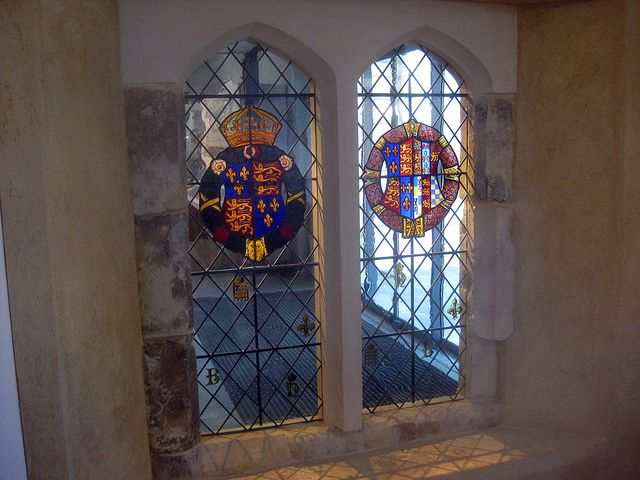 Henry VIII and Anne Boleyn arms in Discover Greenwichpicnik by Matt From London via Flickr