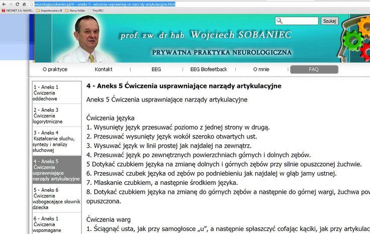 ćwiczenia artykulacyjne i inne; tu tylko zrzut ;(