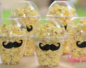 Mustache Party -Popcorn Box-Mustache Party Favor Box-Set of 12