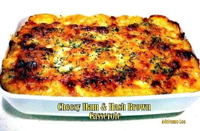 Cheesy Ham and Hash Brown Casserole | Family Dinner | Pinterest