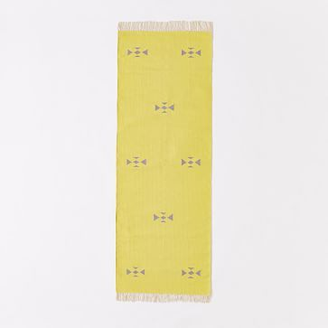 Steven Alan Arrowhead Cotton Kilim Rug - Sun Yellow #westelm
