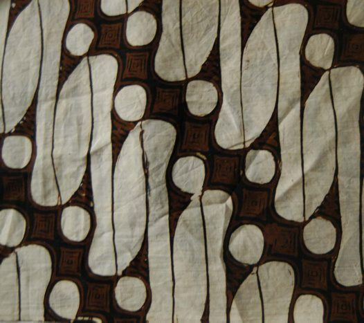 indonesian Textile E74755B  parang rusak' (broken knife or dagger) motif, a symbol of justice and power.