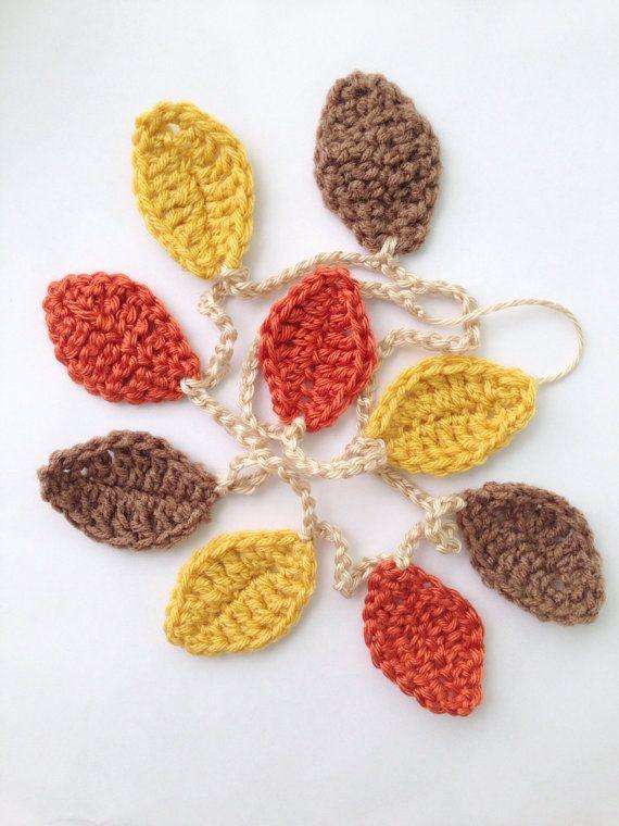 Fall Decorations Leaf Garland Fall Garland by peonyplush