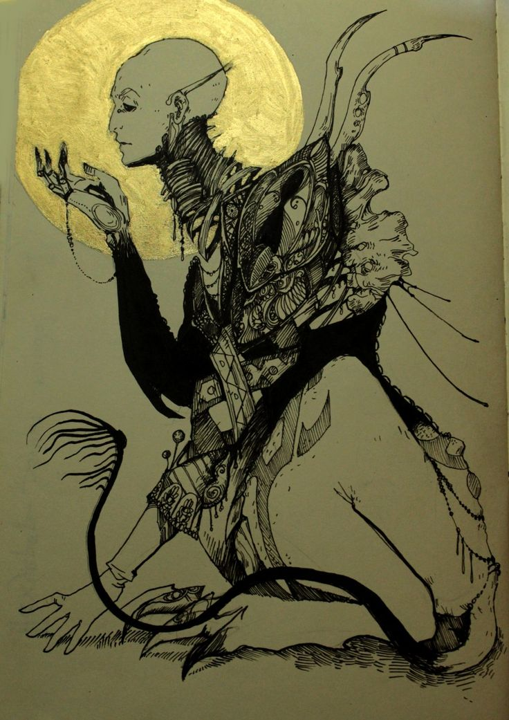 fantasy, gold, sphinx, mythology, graphic, sketchbook, creature, illustration
