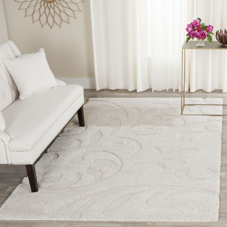 safavieh florida shag ultimate cream rug 7u0027 square sg4681111