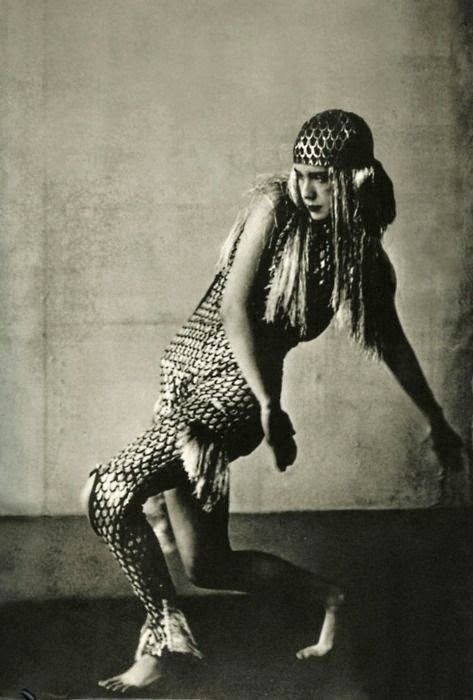 *Lucia Joyce dancing at the Bullier Ball Paris 1929 [ Egyptian Revival Costume? ]