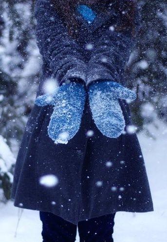 Neige bleue