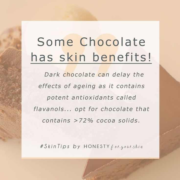 Chocolate is a confusing topic... is it good or bad for you? Does chocolate give you spots or help stop them? Can chocolate make the condition of your skin worse or better? Is chocolate bad for your skin? Click here to find out the answers once & for all (you might be surprised what you learn!)http://wp.me/p6LuQS-13z