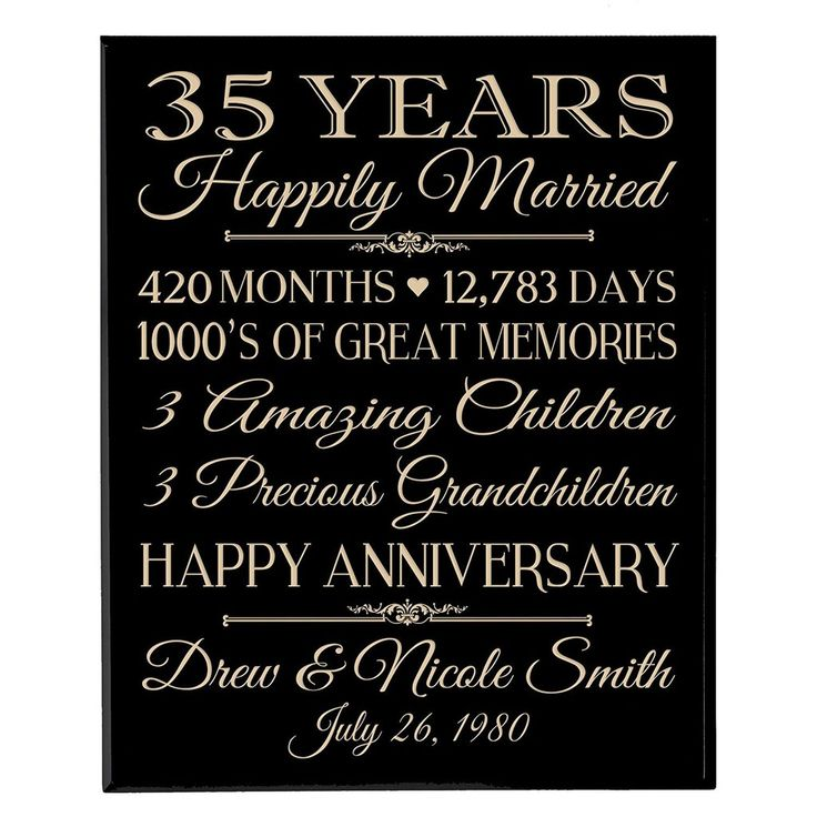 35th Wedding Anniversary Gift Ideas For Friends : ideas about 35th Wedding Anniversary on Pinterest 30 anniversary ...