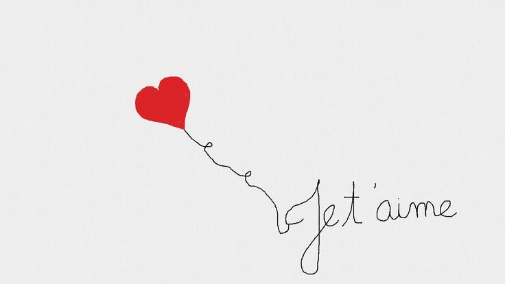 St Valentin Je t'aime. Source : Loulous Party & Co (Pinterest)