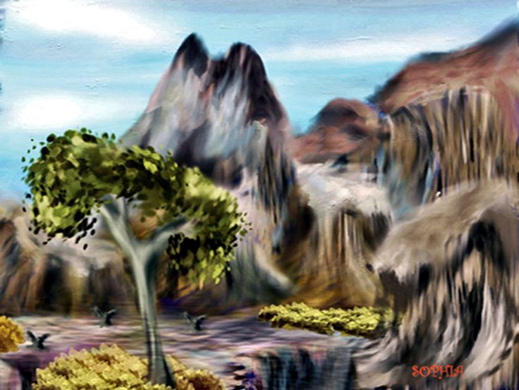 Sophiecadesigns #digital #art mountains #landscape #illustration