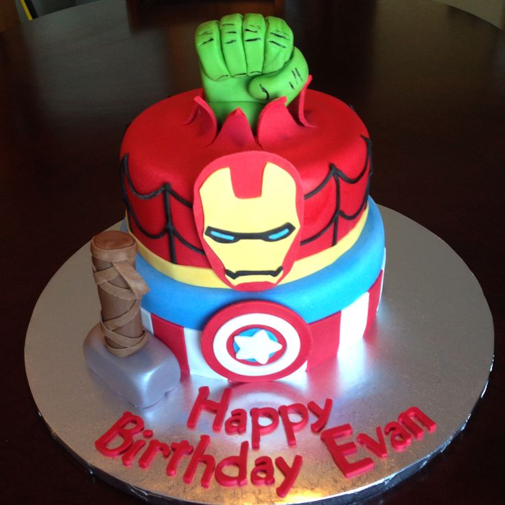 Avengers Birthday Cake Birthday Cakes Pinterest