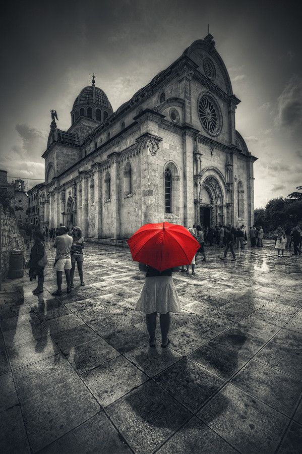 ☂ Seen Here is the Basilica of the Cathedral of St. James, Sibenik VII, Croatia -=- We Are All Blessed by Rain <3