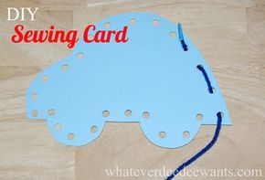 DIY Kids Sewing Card