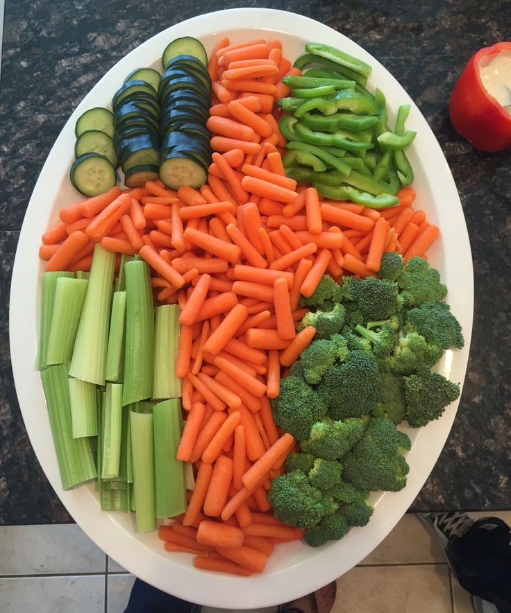 Easter Cross Veggie Tray