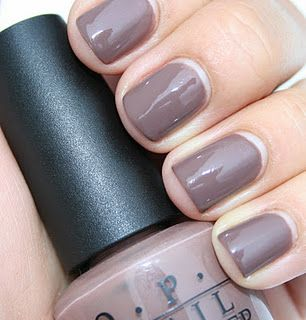 OPI Over the Taupe.. love the color but this girl needs to repaint.. to much grow out for me