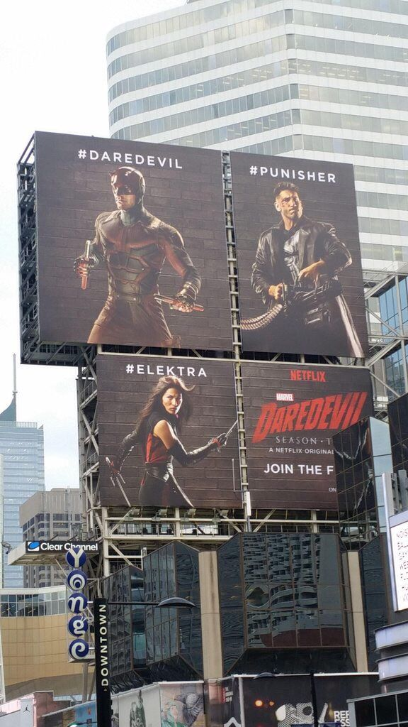 Marvel's 'DAREDEVIL' Season 2 Billboards Feature The Punisher and Elektra In Costumes — Latino-Review.com
