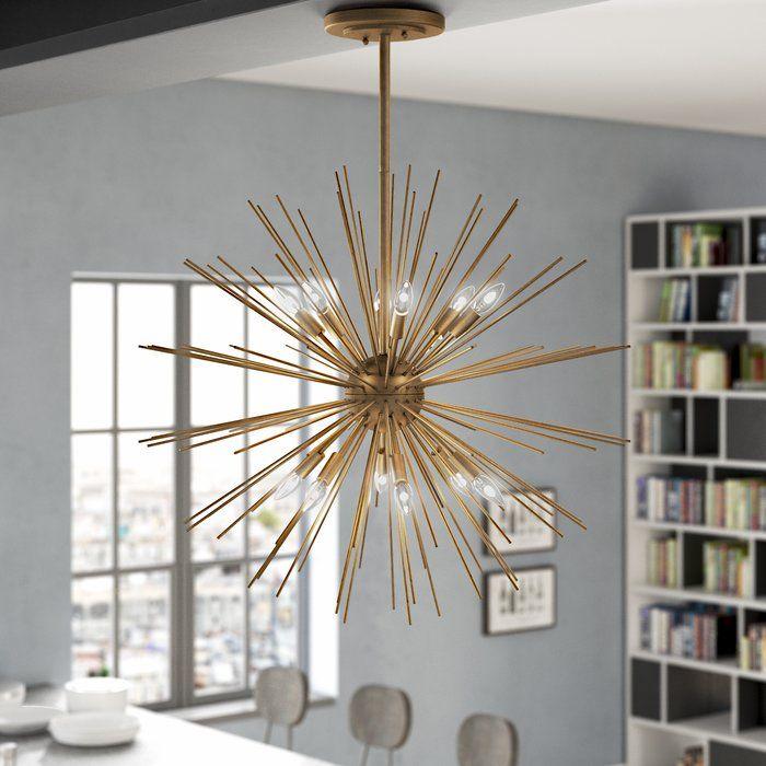 Antonie 12 Light Sputnik Sphere Chandelier