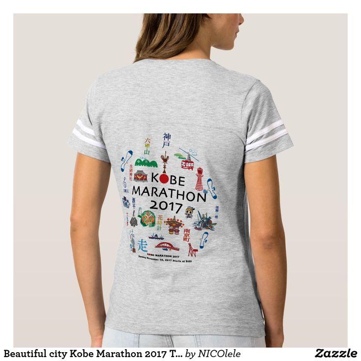 Beautiful city Kobe Marathon 2017 T-shirts Tシャツ
