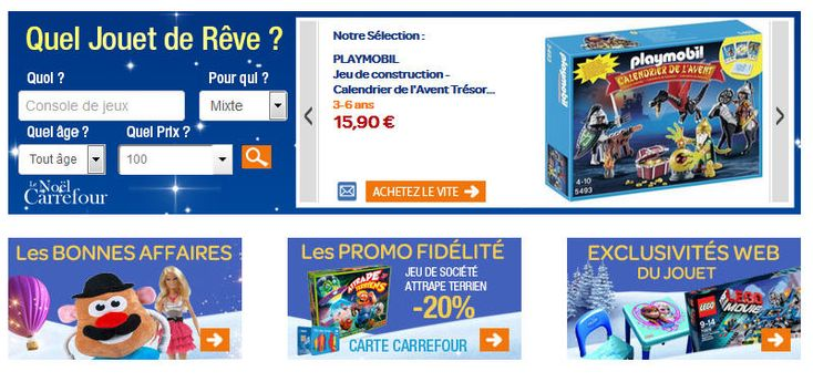 Jouets Carrefour promo jouets, découvrez les promotions et nouveautés et profitez s'en pour faire un achat jouets et jeux pas cher sur Carrefour.fr.