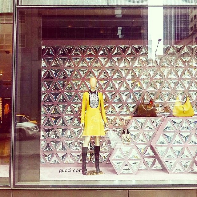 """Shine bright like a diamond or shine like GUCCI"" ,5th Ave. New York,pinned by Ton van der Veer"
