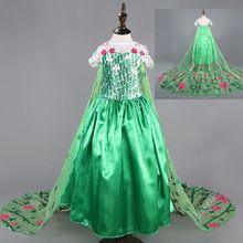 Fieber kleid grün elsa Kostüm Mädchen partei Kleid sommer Prinzessin Kinder kleidung disfraz vestidos elsa de festa meninas vestir(China (Mainland))