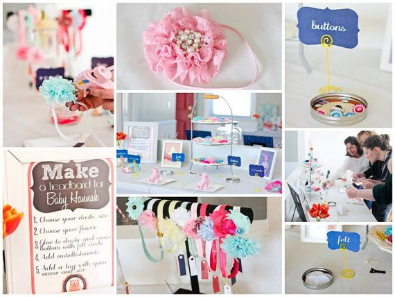 Baby Shower Headband Kit  Party Collection  by LilysFlowerSupply, $35.50