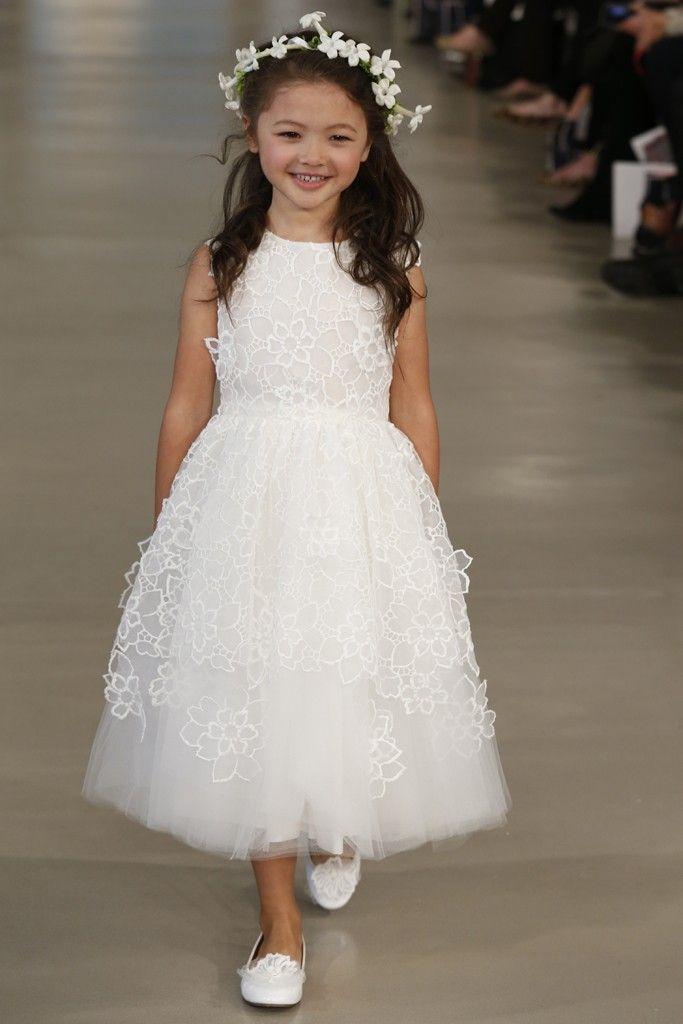 Cute Flower Girl's floral dress | Oscar de la Renta #Bridal Spring Summer 2014