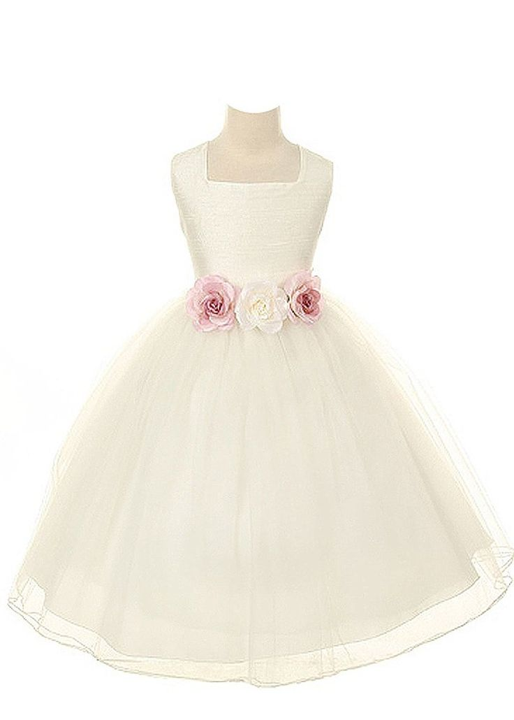 Kids Dream Silk Tulle Flower Girl Easter Dress Girls (Ivory)