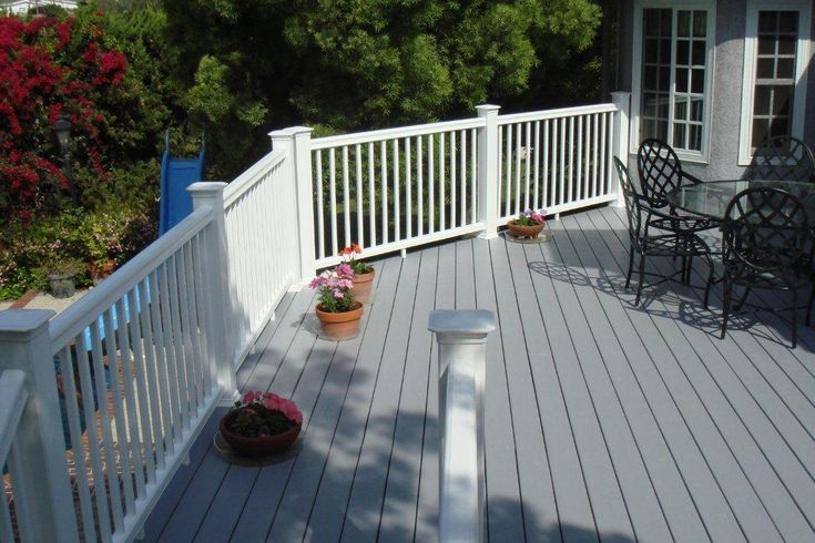 gray and white | deck ideas | Pinterest