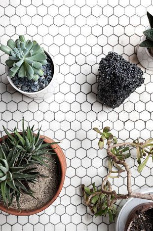 Simple honeycomb tile
