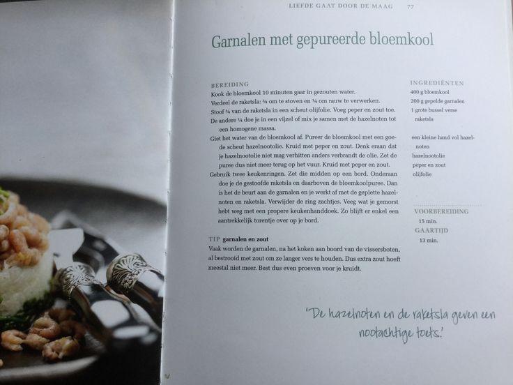 Garnalen met gepureerde bloemkool -Pascal Naessens Mijn pure keuken