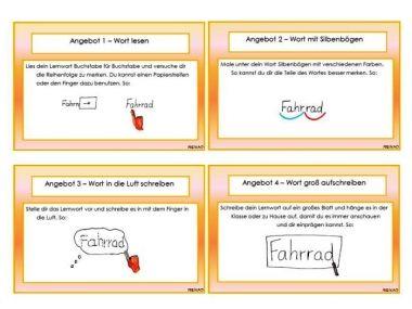 Unterrichtsmaterial, Übungsblätter für die Grundschule | Rechtschreiben mit Strategie - Diktatkartei | online bestellen bei Niekao Lernwelten