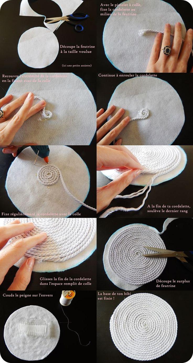 Un elegante tappeto di corda fai da te Bommel machen