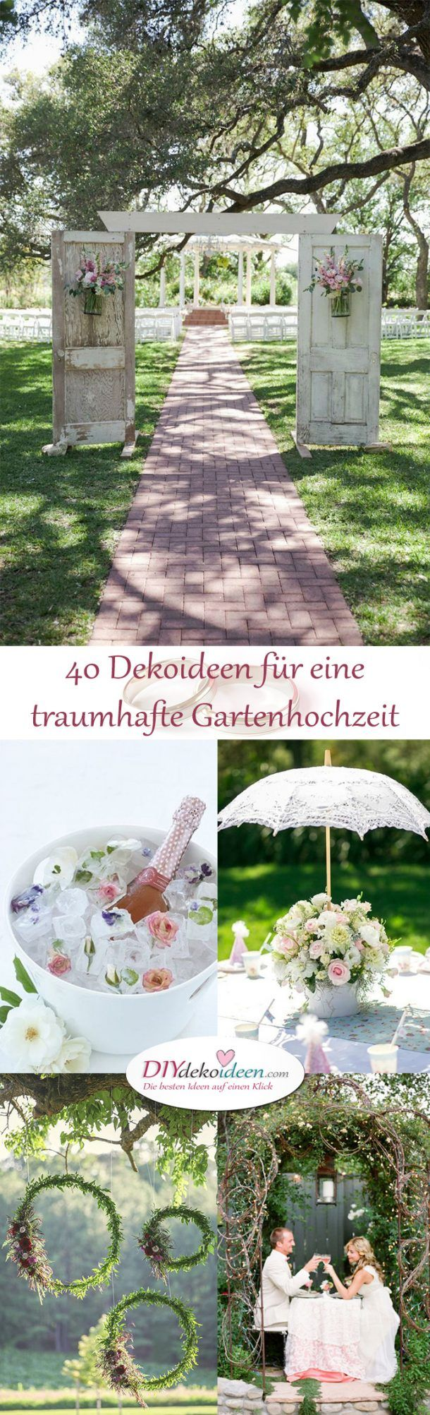 Garten Hochzeit - DIY Dekoideen