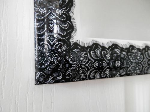 Better After: Sticky Style... this is duct tape people! decorative tape added to a plain mirror! love!