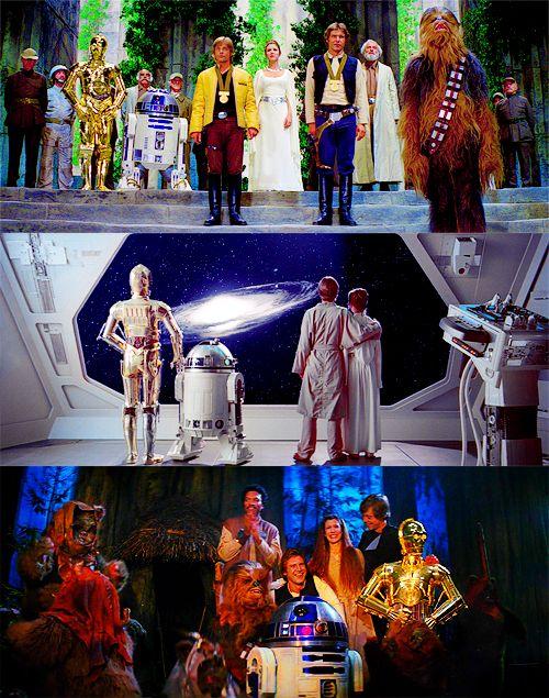 Last shot of the original Star Wars movies  #starwars #theempirestrikesback #returnofthejedi