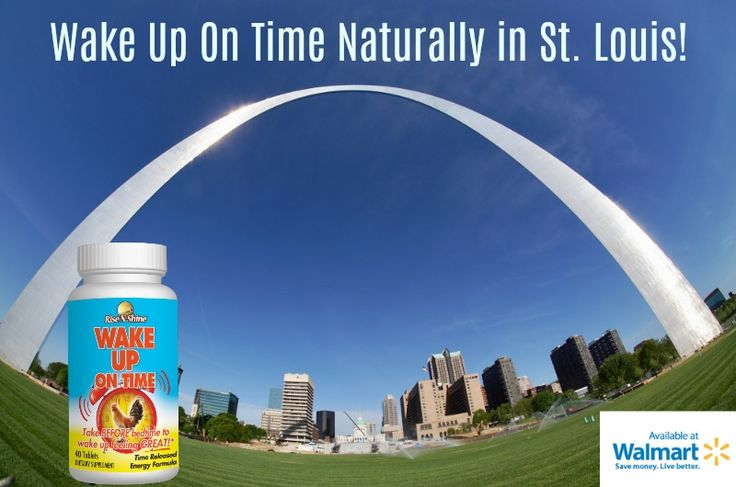 Wake up on time and enjoy the day in St. Louis! With all natural Wake Up On Time! Now in a Walmart location hear you! Image by Voak Kamer Van Koophandel. #walmart #risenshine #riseandshine #wakeupontime #stlouis #stlouisarch #morning #allnatural #nutritionalsupplements #vitamins #herbs #aminoacids #missouri #goodmorning #usa