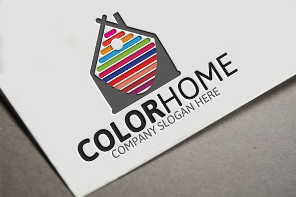 Color Home Logo by Josuf Media on @creativemarket