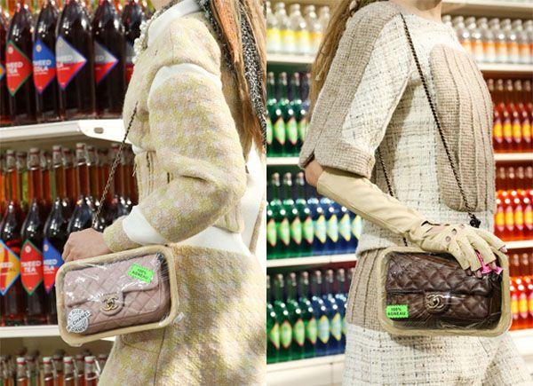 """Le famose borsa """"trapuntata"""", tanto ambita dalle fashion addicted, diventa una bistecca di agnello con tanto di packaging Domopak."""