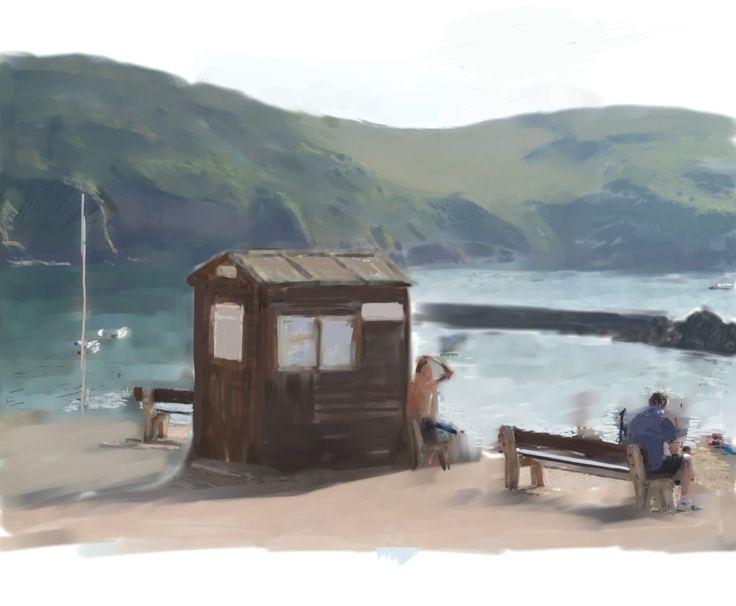 Hope Cove - watercolour