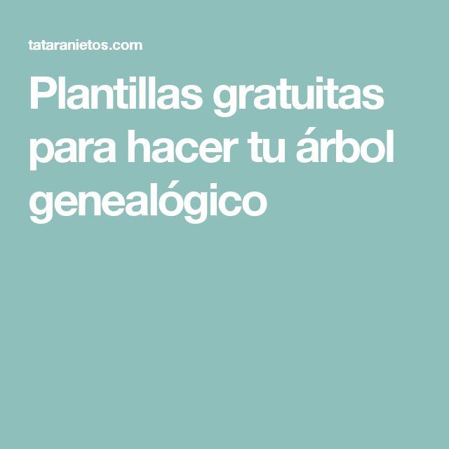 M s de 25 ideas incre bles sobre plantillas de rbol - Ideas para hacer un arbol genealogico ...