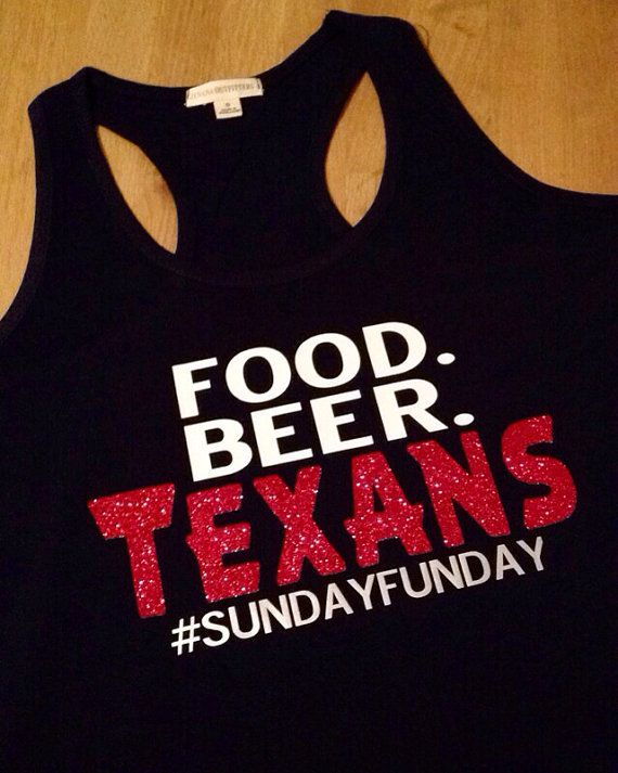 Texans Sunday funday tank by AMariesDesigns on Etsy