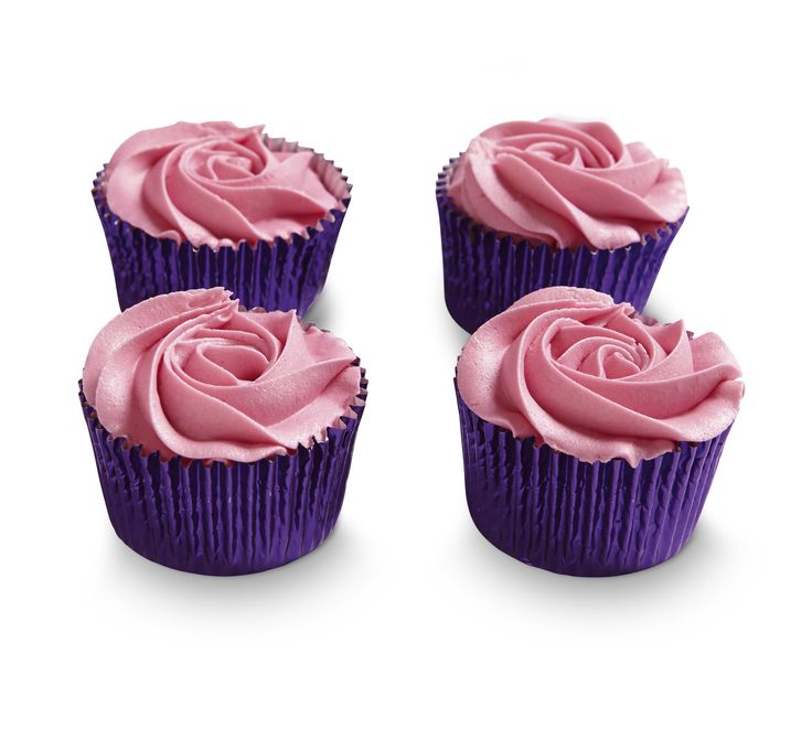 Delicious vanilla cupcakes with pink rose icing - perfect for a delicious afternoon tea with Mum this Mother's Day. Find our cute Waitrose cupcakes in store at the patisserie counter
