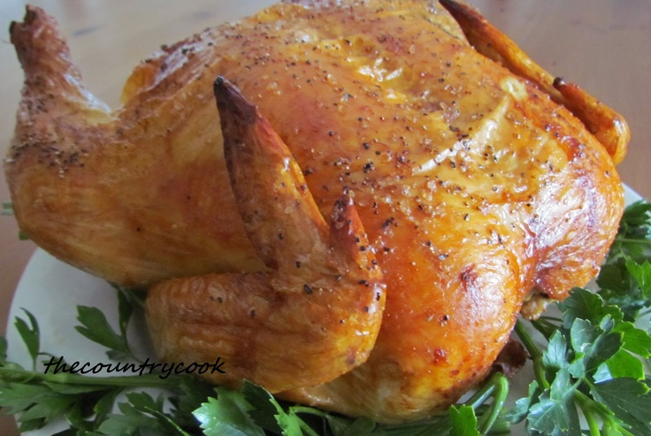 Perfectly Easy Roast ChickenPerfect Roasted, Chicken Recipe, Chicken Dinner, Ovens Roasted Chicken, Chicken Brandy, Roast Chicken, Country Cooking, Easy Roasted Chicken, Sunday Dinner