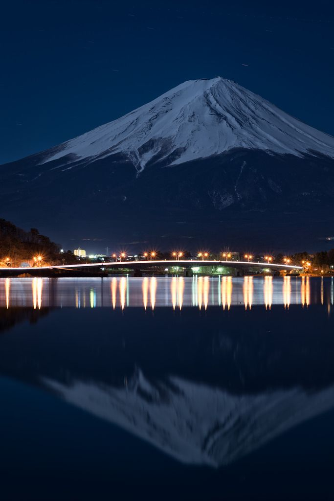 """Reflections on the New Year"" Lake Kawaguchi, Yamanashi Prefecture, Japan 