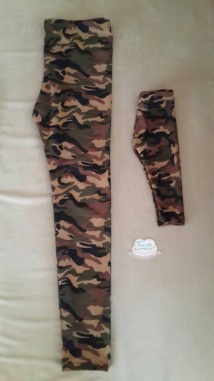 Matching mommy and me leggings , military mommy and me leggings , mom and me matching legging by OnceUponALittleKid on Etsy https://www.etsy.com/listing/169878329/matching-mommy-and-me-leggings-military