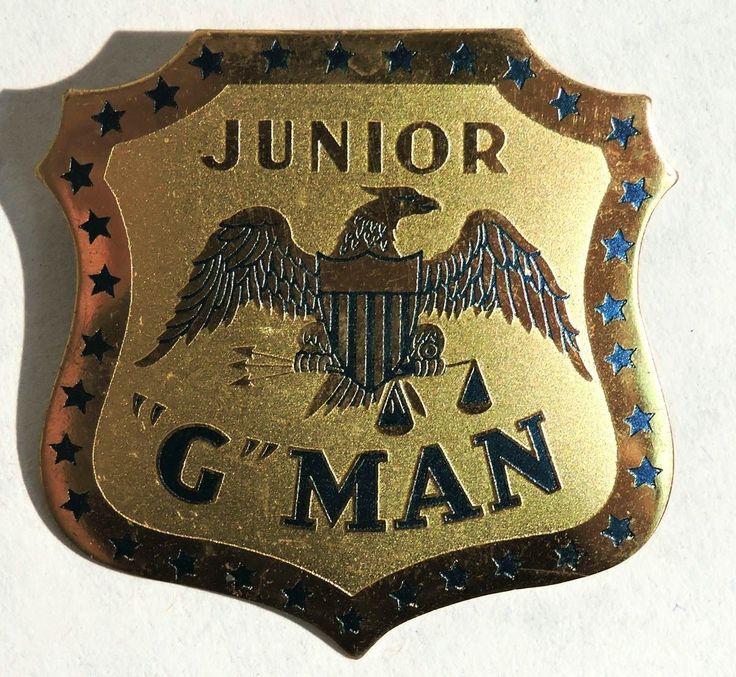 "S184 Vintage Set of 2 Junior ""G"" Man Badge Melvin Purvis Ring 1930'S | eBay"