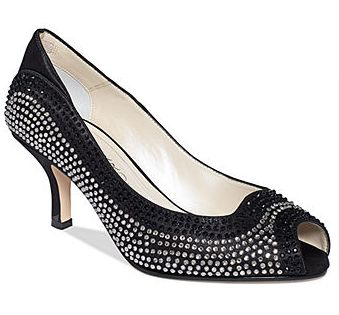 Caparros Irish Evening Pumps: We absolutely love the black and white  rhinestones on these pumps