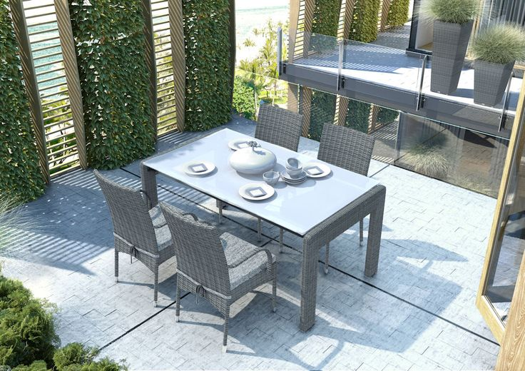 Zahradni zidle z umeleho ratanu Tramonto, sedá
